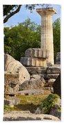 Olympus Ruins Beach Towel by Brian Jannsen
