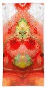Om - Red Meditation - Abstract Art By Sharon Cummings Beach Towel
