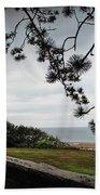 Omaha Beach Under Trees Beach Towel