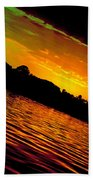 Ominous Sunset Beach Towel