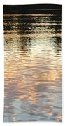 On Shimmering Pond Beach Towel