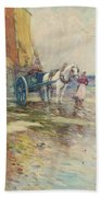 On The Beach  Beach Towel by Oswald Garside