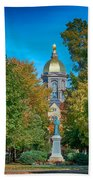 On The Campus Of The University Of Notre Dame Beach Towel