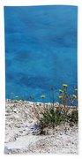 On The Edge Of Blue Beach Towel