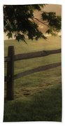 On The Fence Beach Towel by Bill Wakeley