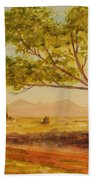 On The Road To Broken Hill Nsw Australia Beach Towel