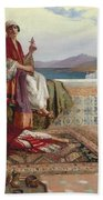 On The Terrace Tangiers Beach Towel