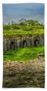 On Top Of Fort Macomb Beach Towel by David Morefield