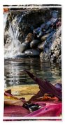 On Waters Edge Beach Towel