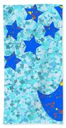 Once In A Blue Moon Also Got 5 Stars Signature Art  Navinjoshi Artist Created Images Textures Patter Beach Towel