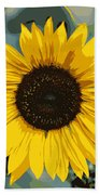 One Bright Sunflower - Digital Art Beach Towel