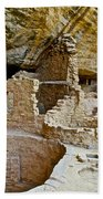 One End Of Spruce Tree House On Chapin Mesa In Mesa Verde National Park-colorado Beach Towel