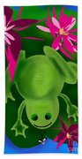 One Frogs Dinner Beach Towel