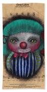 One Love Clown Beach Towel