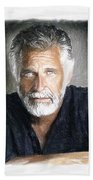 One Of The Most Interesting Man In The World Beach Sheet