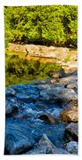 One River - Three Flows Beach Towel
