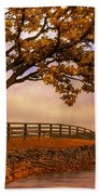 One Tree Hill Beach Towel by Lois Bryan