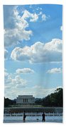 One View Two Memorials Beach Towel