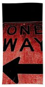One Way Beach Towel