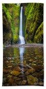 Oneonta Falls Beach Towel