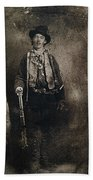 Only Authenticated Photo Of Billy The Kid Ft. Sumner New Mexico C.1879-2013 Beach Towel
