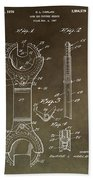 Open End Ratchet Wrench Patent Beach Towel