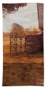 Open Gate By Cottage Beach Towel