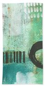 Open Gate- Contemporary Abstract Painting Beach Towel
