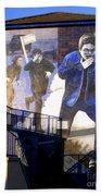 Derry Mural Operation Motorman  Beach Towel