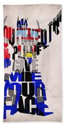 Optimus Prime Beach Towel