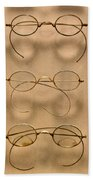 Optometrist - Simple Gold Frames Beach Towel by Mike Savad