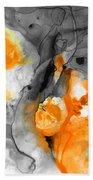 Orange Abstract Art - Iced Tangerine - By Sharon Cummings Beach Towel