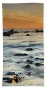Orange At Sunset Beach Towel by Guido Montanes Castillo