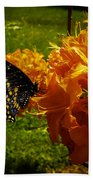 Orange Azalea Beach Towel