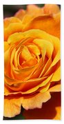 Orange Bloom Beach Towel