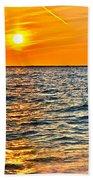 Orange Burn Beach Towel