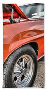 Orange Chevelle Ss 396 Beach Towel
