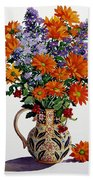 Orange Chrysanthemums Beach Towel