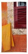Orange Cloth  Beach Towel