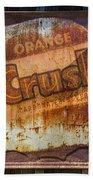 Orange Crush Sign Beach Towel