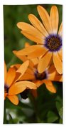 Orange Daisy Beach Towel