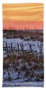 Orange Dawn Beach Towel