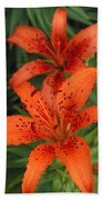 Orange Day Lilies Beach Towel