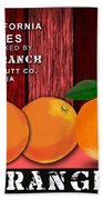 Orange Farm Beach Towel