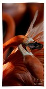 Orange Flamingos Conflict Resolution Beach Towel