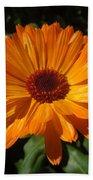 Orange Flower In The Garden Beach Towel
