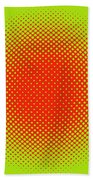 Optical Illusion - Orange On Lime Beach Towel