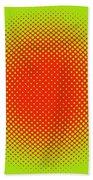 Optical Illusion - Orange On Lime Beach Sheet