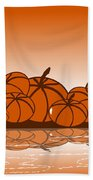Orange Harvest Beach Towel