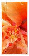 Orange Hibiscus Beach Towel